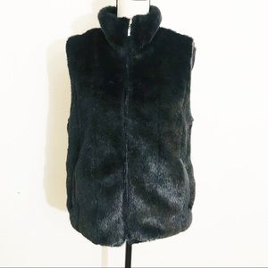 Giacca Faux Fur Vests Jacket Size small